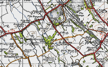 Old map of Marton in 1947