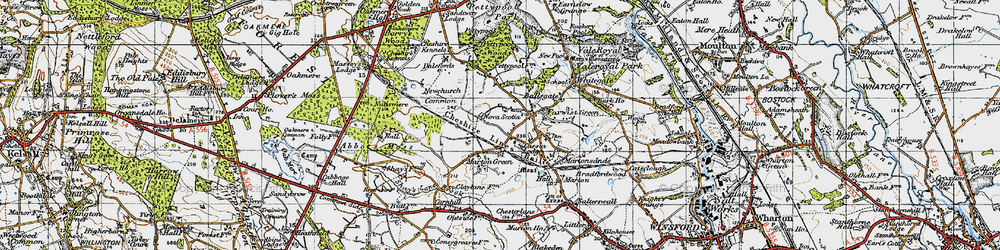 Old map of Whitegate Way in 1947