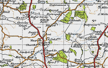Old map of Tidnock Wood in 1947