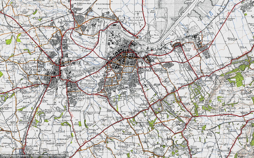 Old Map of Marton Grove, 1947 in 1947