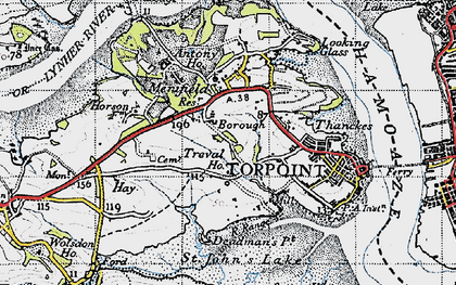 Old map of Maryfield in 1946