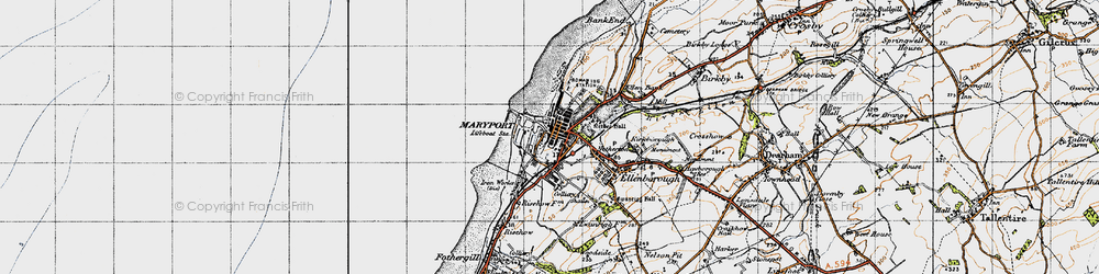 Old map of Maryport in 1947