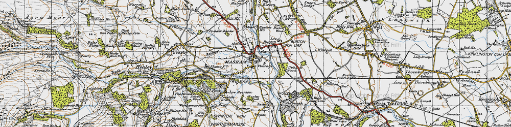 Old map of Aldburgh Hall in 1947