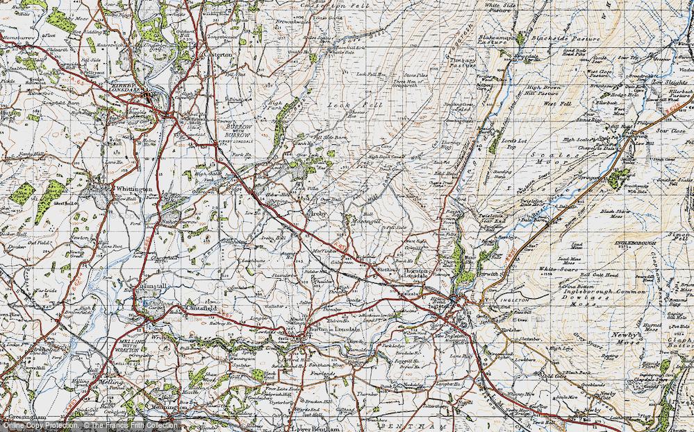 Old Map of Masongill, 1947 in 1947