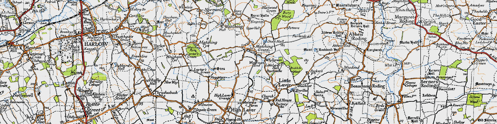 Old map of Matching Green in 1946
