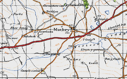 Old map of Y Craig in 1946
