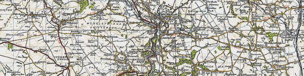 Old map of Matlock in 1947