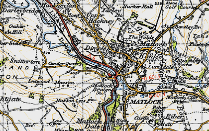 Old map of Matlock Bank in 1947