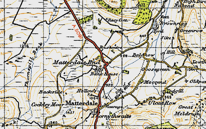 Old map of Bald Howe in 1947