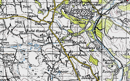 Old map of Maudlin in 1946