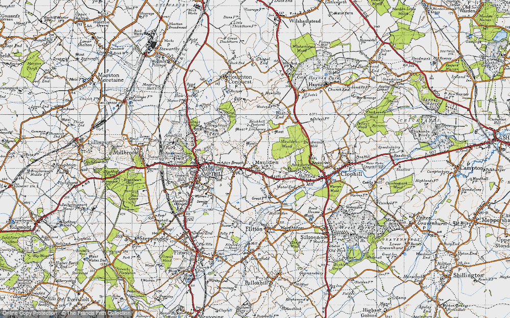 Old Map of Maulden, 1946 in 1946