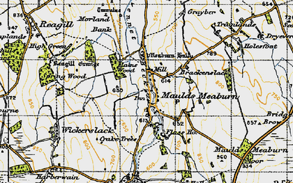 Old map of Lankaber in 1947