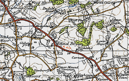 Old map of Westfields in 1947