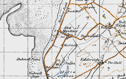 Old map of Bankmill in 1947
