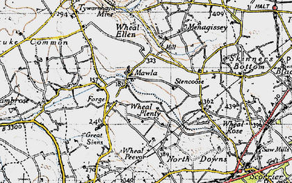 Old map of Wheal Plenty in 1946