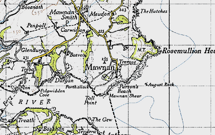 Old map of August Rock in 1946