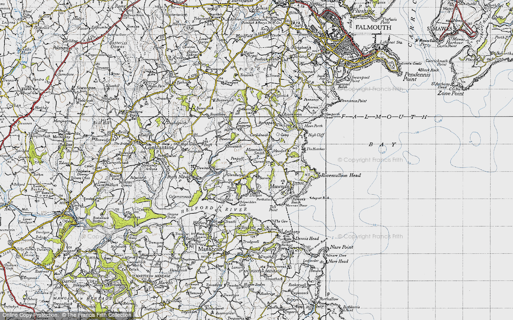 Old Map of Mawnan Smith, 1946 in 1946
