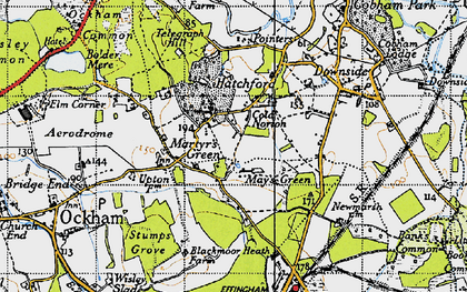 Old map of May's Green in 1940