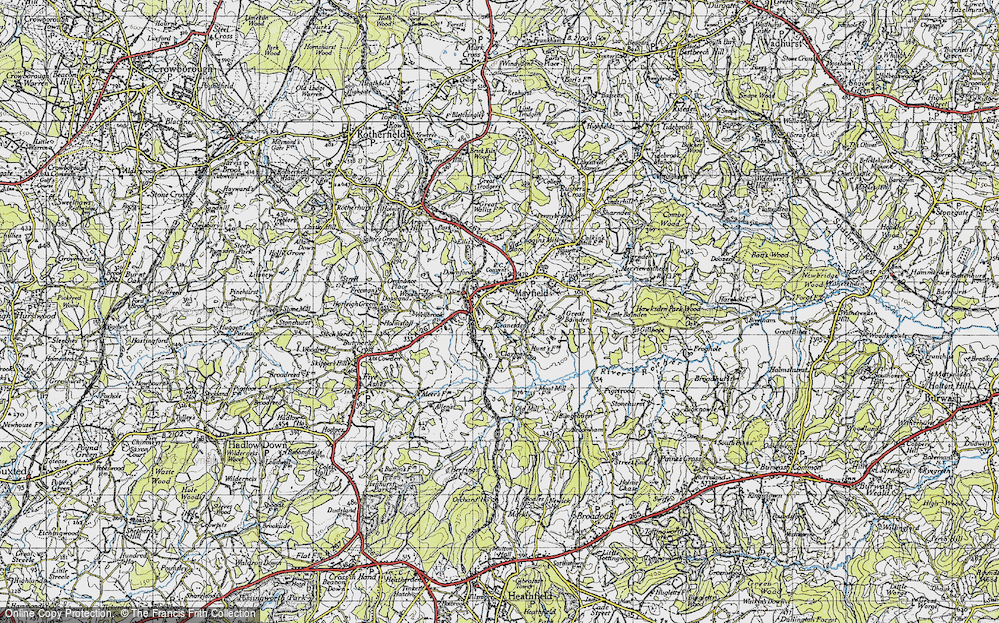 Old Map of Mayfield, 1940 in 1940