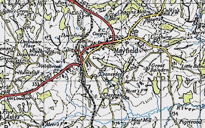 Old map of Mayfield in 1940