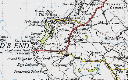 Old map of Mayon in 1946