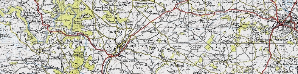 Old map of Whistley Hill in 1946