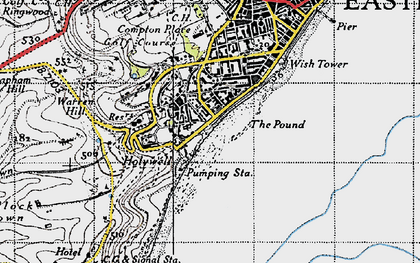 Old map of Wish Tower in 1940
