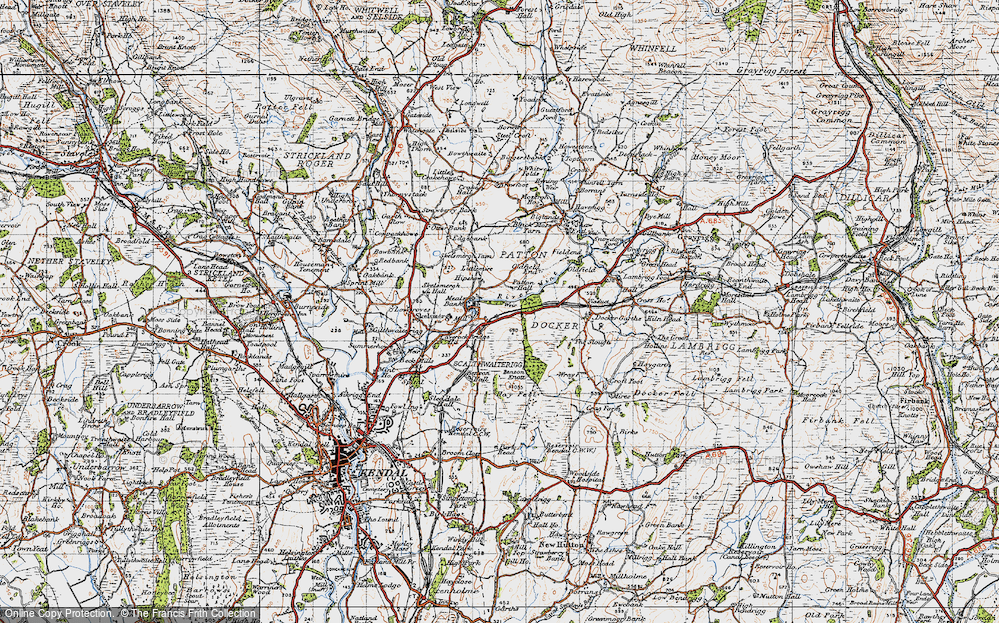 Old Map of Historic Map covering Laverock Bridge Ho in 1947