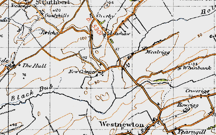 Old map of Aikshaw in 1947