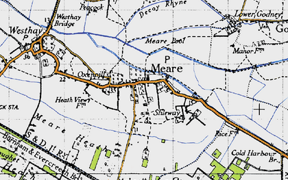 Old map of Abbot's Fish Ho in 1946