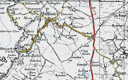 Old map of Meaver in 1946