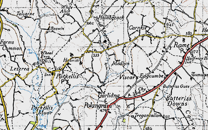 Old map of Medlyn in 1946