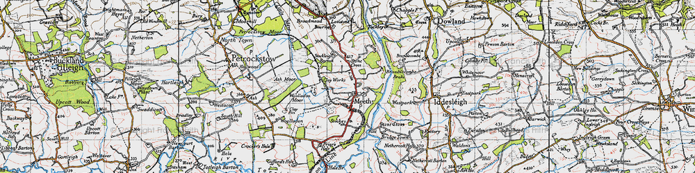 Old map of Woolladon in 1946