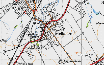 Old map of Melbourn in 1946