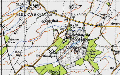 Old map of Woodleys in 1946