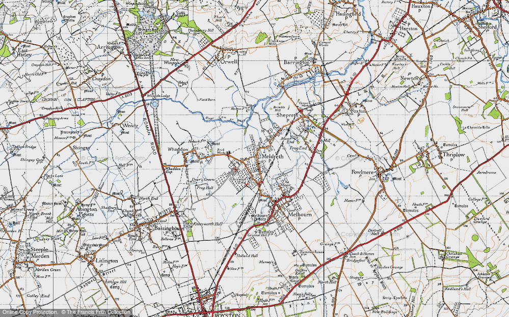 Old Map of Meldreth, 1946 in 1946