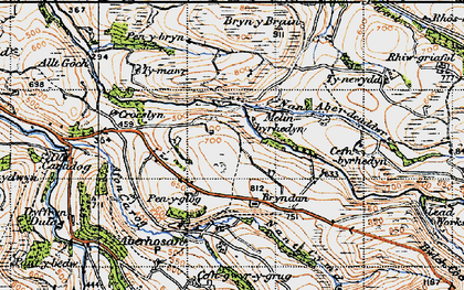 Old map of Bacheiddon in 1947