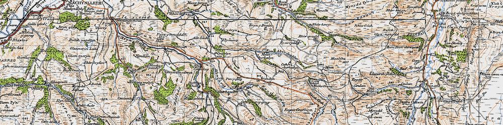 Old map of Melinbyrhedyn in 1947