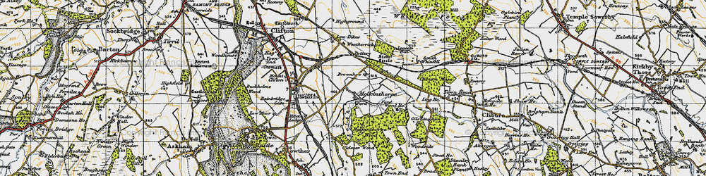 Old map of Leacet Hill in 1947