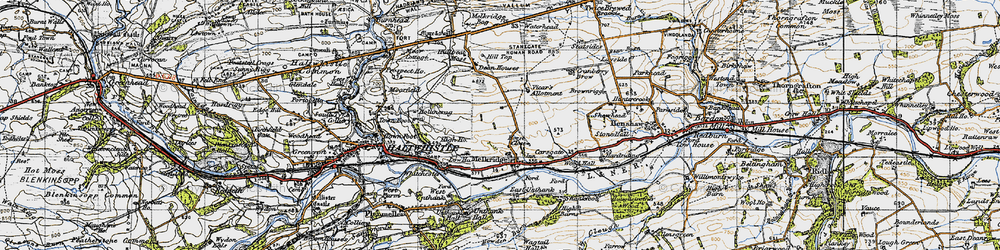 Old map of Winshields in 1947