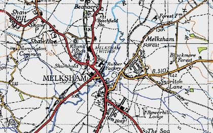 Old map of Melksham in 1940