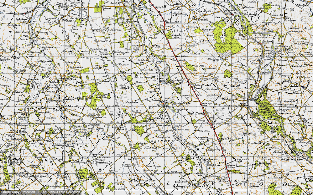 Old Map of Mellguards, 1947 in 1947