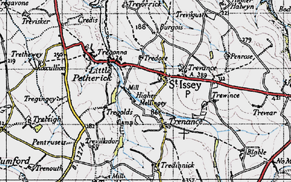 Old map of Mellingey in 1946