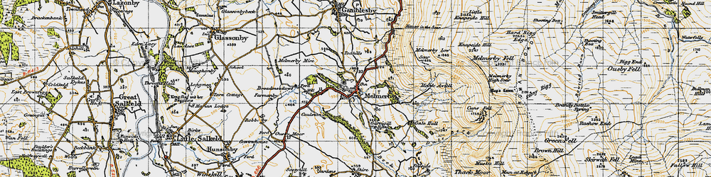 Old map of Todhills in 1947