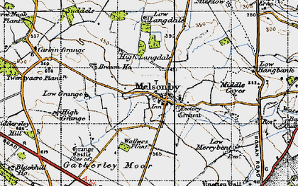 Old map of Melsonby in 1947