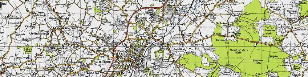 Old map of Wilford Br in 1946