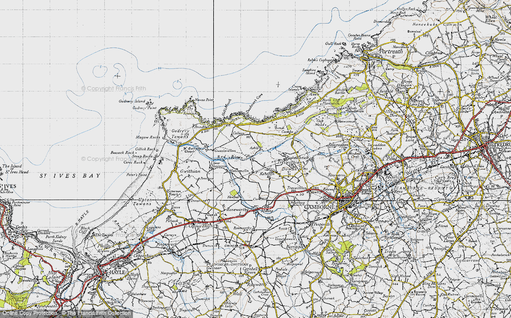 Old Map of Historic Map covering Ashill in 1946