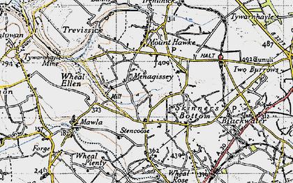 Old map of Menagissey in 1946
