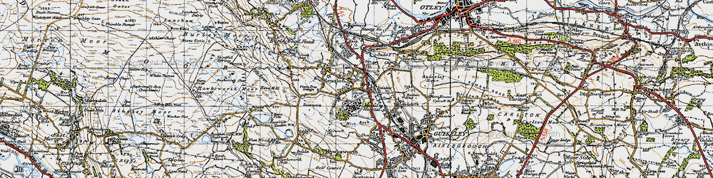 Old map of Mire Beck in 1947