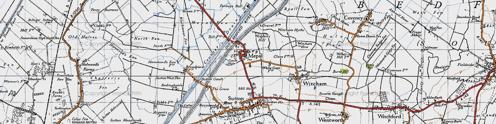 Old map of Widdens Hill in 1946